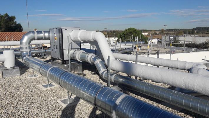 Climatisation, chauffage et ventilation du nouveau bâtiment de l'AMETRA à Lattes 34